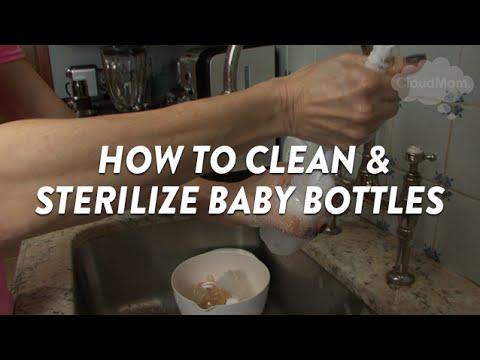 Πως να καθαρίσετε και να αποστειρώσετε τα μπιμπερό του μωρού σας