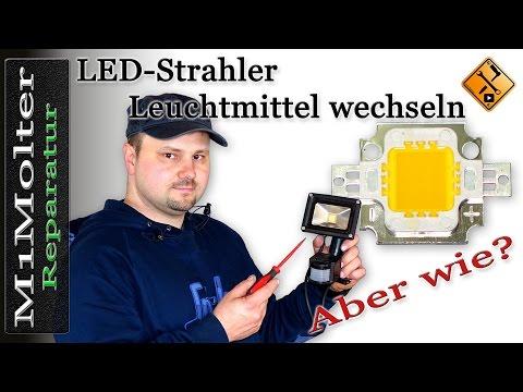 LED Leuchtmittel wechseln an Baustrahler von M1Molter