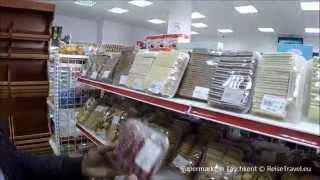 Supermarkt in Taschkent, Einkaufen Usbekistan, Markthalle, Usbekistan,