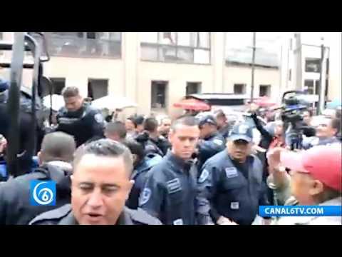 Policías Morelos agrede a medios de comunicación