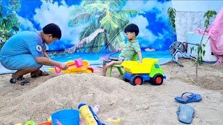 Tin nghịch cát - làm lâu đài ❤ Đồ chơi trẻ em Tin Siêu Còi ❤