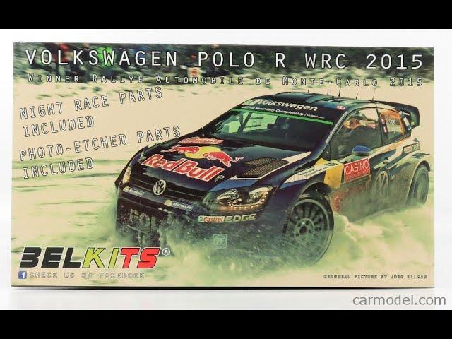 Volkswagen Polo R WRC 2015 Latvala Ogier VW 1:24 Model Kit Belkits BEL010