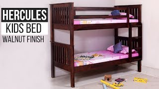 Kids Bed: Buy Sheesham Wood Hercules Kids Bed (Walnut Finish) Online @ Wooden Street
