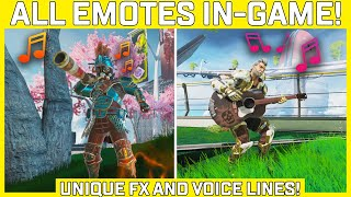 Todos os Emotes do Apex Legends mostrados no jogo com efeitos sonoros! - Linhas exclusivas de FX e voz!