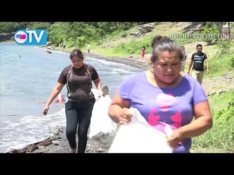 Catarina asume compromiso del cuido de la reserva de la laguna de apoyo con limpiezas en costas
