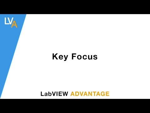 How to use a Key Focus – LabVIEW – LabVIEW Advantage