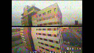 Tiny whoop failsafe 14 story building Tulsa FPV (raw dvr feed)