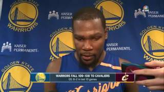 HUGE TRASH TALK FROM KEVIN DURANT AFTER WARRIORS LOSS AT CLEVELAND -DECEMBER 25TH-