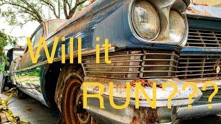 Abandoned Caddy! Will it Run??? Barn Find '64 Cadillac.