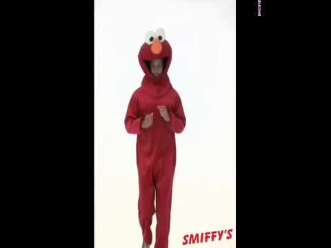 Disfraz de Elmo de Barrio Sésamo para adultos