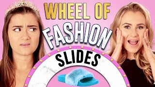 SLIDES CHALLENGE?! Wheel of Fashion w/ Cloe Couture & Mia Feldman
