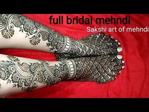 beautiful foot bridal mehndi design tutorial by sakshi