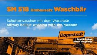 Doppstadt SM 518 mit Umbausatz Waschbär - Lösung: Schotter waschen