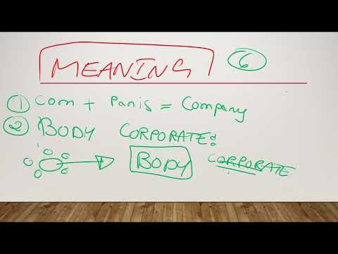 Meaning & Definition Of Company law by Prof CS Alok