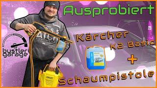Ausprobiert   Kärcher K2 Hochdruckreiniger und Schaumdüse