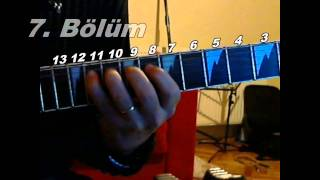 Gitar Dersi - Model - Pembe Mezarlık Gitar Solo - Vehbi Can Uyaroglu - 6