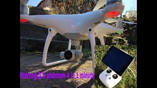 How to start DJI Phantom 4 Drone Tutorial in 1min. Quick start