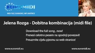Jelena Rozga - Dobitna kombinacija (midi file)