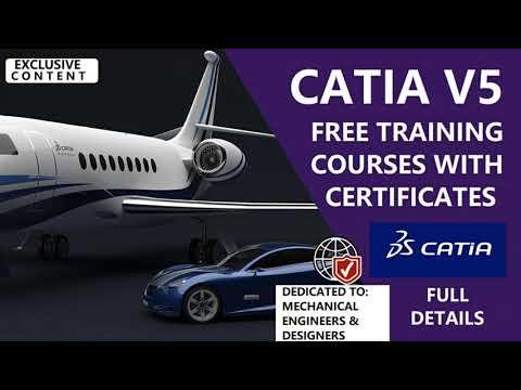 CATIA FREE TRAININGS WITH CERTIFICATES | CATIA ... - YouTube