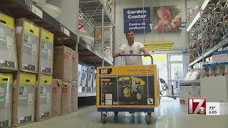 Raleigh store sells 100 generators in a half day