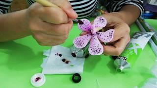 Hướng dẫn làm hoa lan Mokara - Phần 3