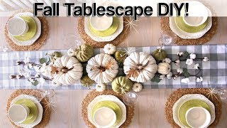 Fall Tablescape 2019 Ideas ⭐ Decorate With Me ⭐ Fall Farmhouse Table Decor