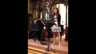 Charlotte sings Mawby's The Lord is my shepherd