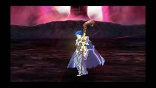 Cu Chulainn  - (Fate/Grand Order) - Fate/Grand Order: Caster Cu Chulainn fights in burning Fuyuki