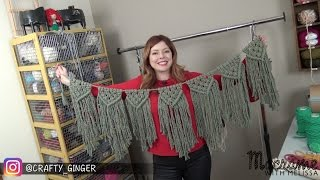 DIY Tutorial: Macrame Bunting / Banner Free Pattern By Crafty Ginger