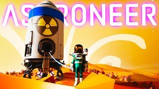 Launching The Giant Spaceship With A Nuclear Payload in Astroneer