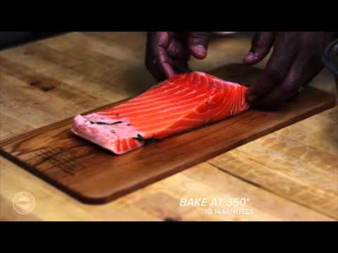 Cedar Plank Oven Baked Fresh Salmon