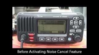 Icom IC-M423 mobil hajórádió aktív zajszűrés