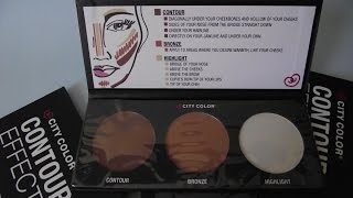 preview picture of video 'Clon o Dupe de Paleta City Color Contour Effects + Paleta de Contorno City Color'