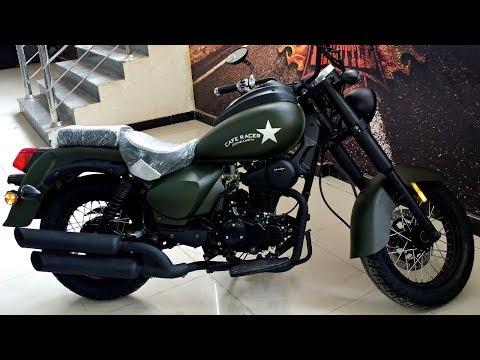 200cc CHOPPER BIKE BY ZONGSHEN ARMY GREEN COLOR FULL REVIEW & SOUND TEST ON PK BIKES