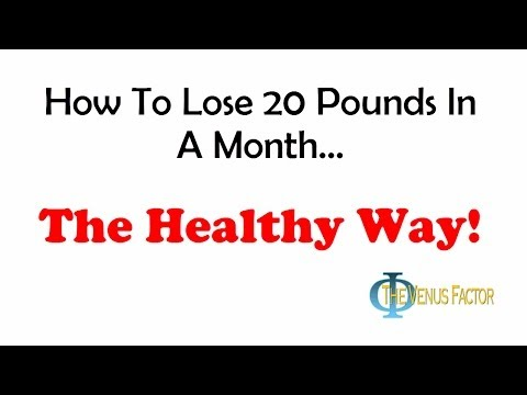 Video How To Lose 20 Pounds In A Month The Right Way!