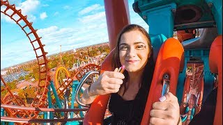 Doing my Makeup on a Rollercoaster! Extreme Makeup Challenge