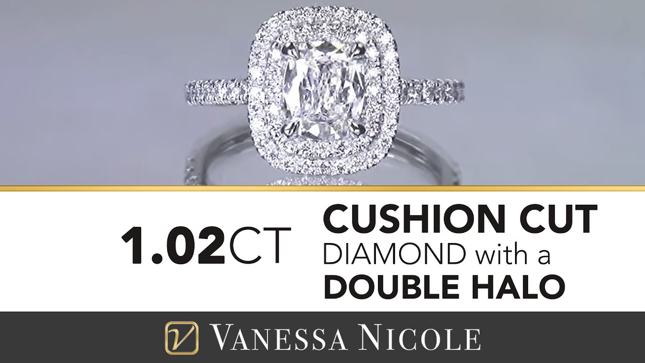 1.02ct Cushion Cut Diamond Ring
