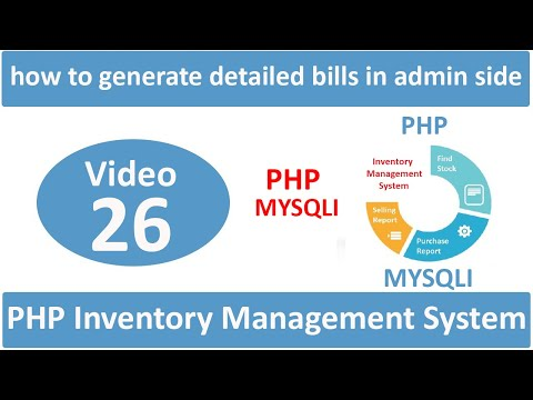 how to generate detailed bills in admin side in php ims