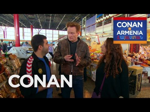 Conan and Sona Visit An Armenian Marketplace  - CONAN on TBS (видео)