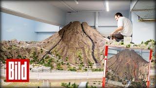 Miniatur-Wunderland : Vesuv-Ausbruch in Italien