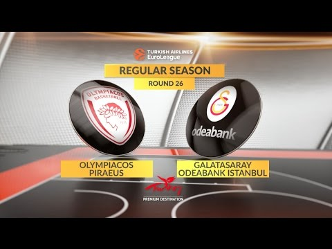 EuroLeague Highlights RS Round 26: Olympiacos Piraeus 71-80 Galatasaray Odeabank Istanbul