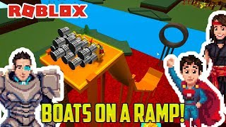 Roblox: BOAT RAMP CHALLENGE FAIL