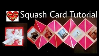 Squash Card Tutorial | How to Make Squash Card for Scrapbook