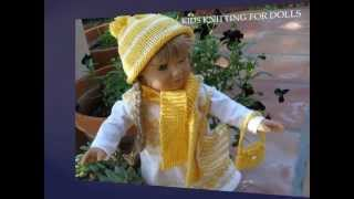 "KNITTING FOR DOLLS - knitting and crochet patterns for 18"" dolls, including AMERICAN GIRL"