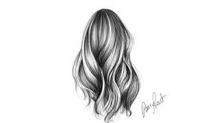 Pencil drawing Tutorial 033 hairs sketch