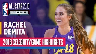 rachel demita with nba2k worthy performance in 2018 celebrity allstar game  presented by ruffles