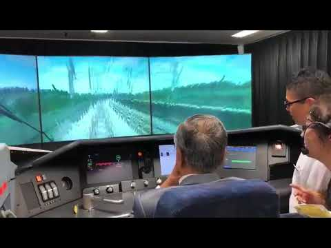 Trying Out The Bullet Train Driver's Simulator