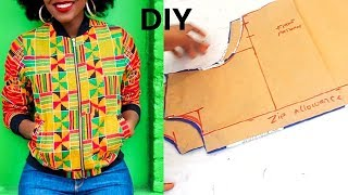 How To Make A Bomber Jacket Pattern Part 1
