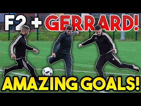 Steven GERRARD + F2Freestylers EPIC Shooting Session!   AMAZING GOALS!