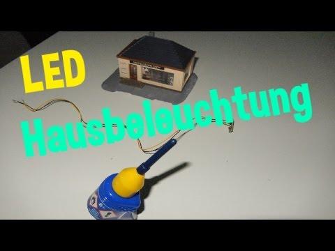 Modellbahn - LED Hausbeleuchtung Einbau (Spur N)